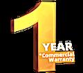 1 year commercial warranty