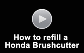How To Refill A Honda Brushcutter
