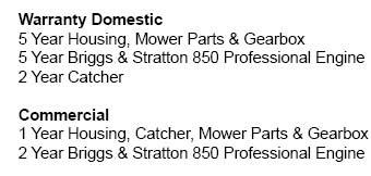 Masport Contractor Sp Warranty