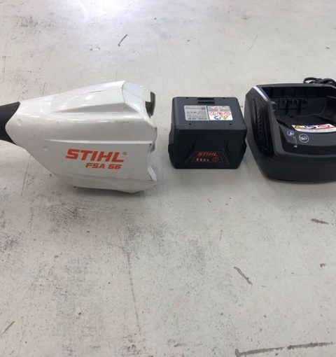 Second Hand Stihl Fsa56 Brushcutter With Battery And Charger 02
